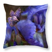 Goddess Of Mystery Throw Pillow by Carol Cavalaris