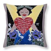 Goddess Of The Arts Throw Pillow
