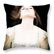 Goddess Of The Moon Throw Pillow