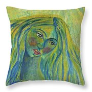 Goddess Of The North Sea Throw Pillow