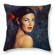 Goddess Of The Summer Rose Throw Pillow