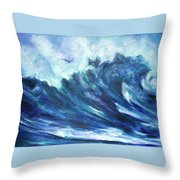 Goddess Of The Waves Throw Pillow