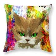 Goddess Santia As A Cat 687 Throw Pillow