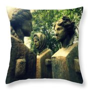 Goddess Statues Throw Pillow