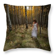 Goddess Walk Throw Pillow