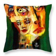 Goddess With Many Faces 671 Throw Pillow