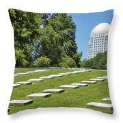 God's Acre In Old Salem Throw Pillow