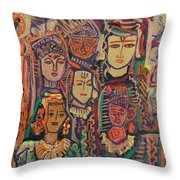 Gods And Angels Throw Pillow