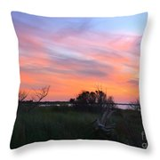 God's Artistry On Pamlico Sound Throw Pillow