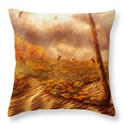 Gods Hand Painting With Life Throw Pillow