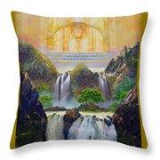 God's Holy Hill Throw Pillow
