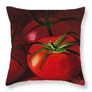 God's Kitchen Series No 3 Tomato Throw Pillow