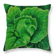 God's Kitchen Series No 5 Lettuce Throw Pillow