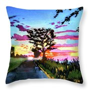 God's On Booe Road Throw Pillow