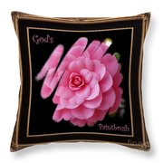 God's Paintbrush With Gold Frame Throw Pillow