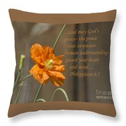 God's Peace Throw Pillow