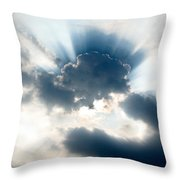 Gods Rays Throw Pillow