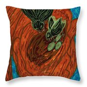 God's Supportive Hand Throw Pillow