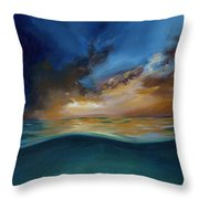 God's Wave Of Love Throw Pillow