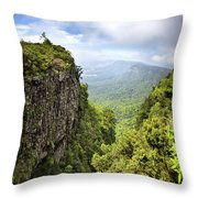 God's Window And The Blyde River Canyon Throw Pillow