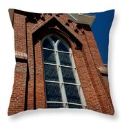 Gods Window St. Mary's In The Mountains Catholic Church Throw Pillow