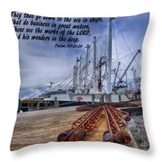 God's Wonders In The Deep Throw Pillow