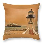 Godspeed At Brant Point Nantucket Island Throw Pillow
