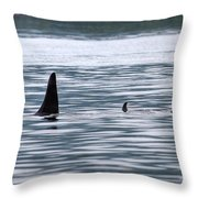 Godzilla Is Coming In Widescape Throw Pillow