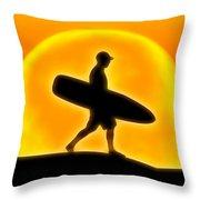 Goin' For A Surf Throw Pillow