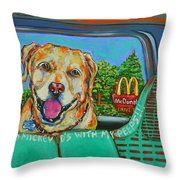 Goin' To Mickey D's With My Peeps Throw Pillow