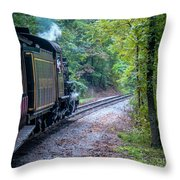 Going Around The Bend Throw Pillow