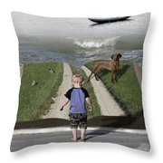 Going Back Home Throw Pillow