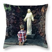 Going Before The Sacred Heart Of Jesus Throw Pillow