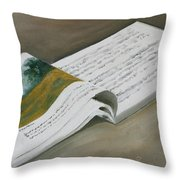 Going By The Book Throw Pillow