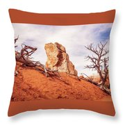 Going Down The Slope At Kodachrome Basin State Park. Throw Pillow