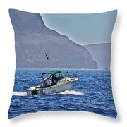 Going Fishing Throw Pillow