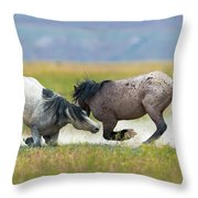 Going For The Knees Throw Pillow