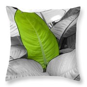 Going Green Lighter Throw Pillow