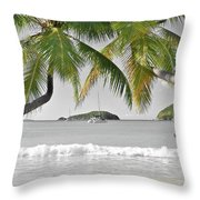 Going Green To Save Paradise Throw Pillow