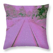 Going Home For Christmas Throw Pillow by Donna Bentley