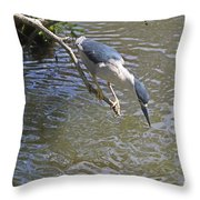 Going In For The Catch Throw Pillow