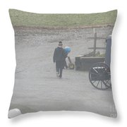 Going Out To Play Ball Throw Pillow