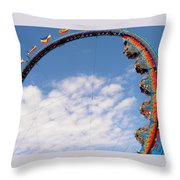 Going 'round In Circles Throw Pillow