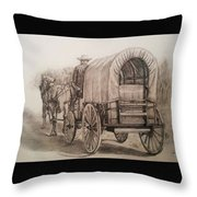 Going Shopping Throw Pillow
