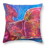 Going Someplace Pretty Throw Pillow