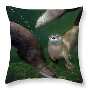 Going Their Own Way Throw Pillow