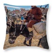 Going To The Rissani Market Throw Pillow