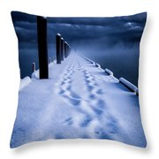 Going To The End Throw Pillow