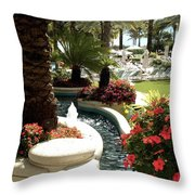 Going To The Pool Throw Pillow