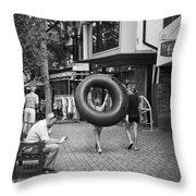 Going To The Water Throw Pillow